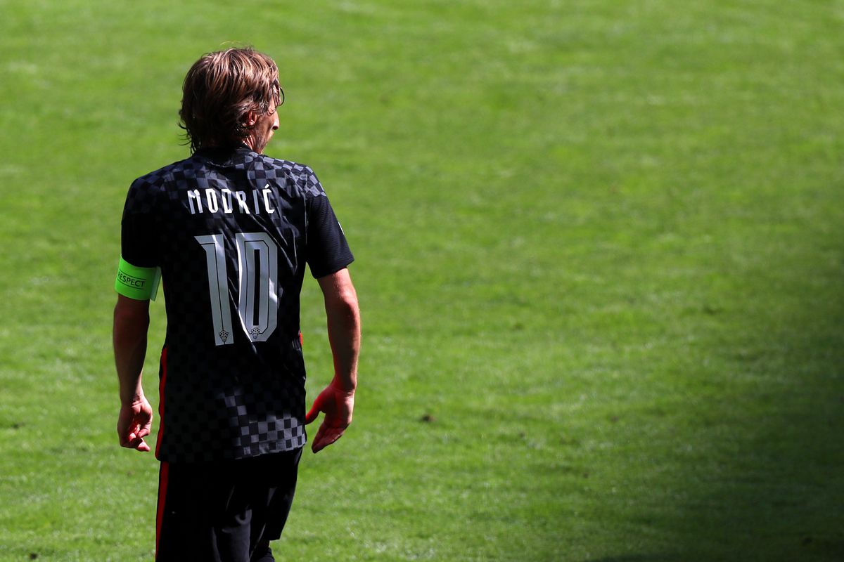 Luka Modric of Croatia during the UEFA Euro 2020 Championship Group D match between England and Croatia on June 13, 2021 in London, England.