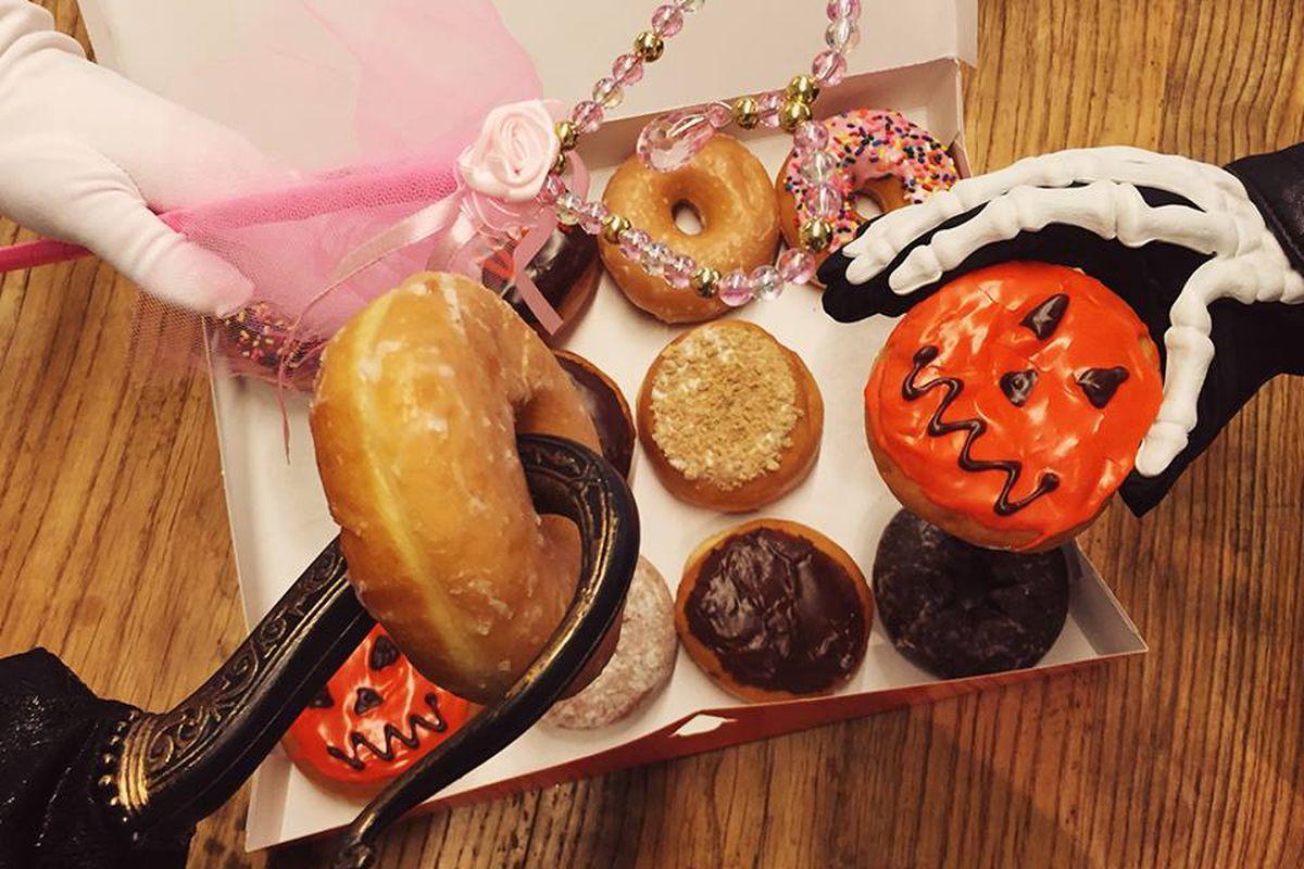 Halloween-themed donuts