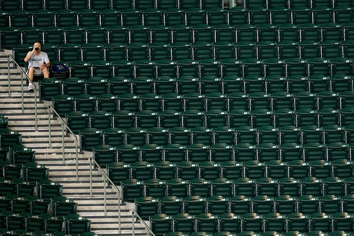 This picture, taken sometime on Wednesday, is roughly the opposite of how I expect Miller Park to look tonight.