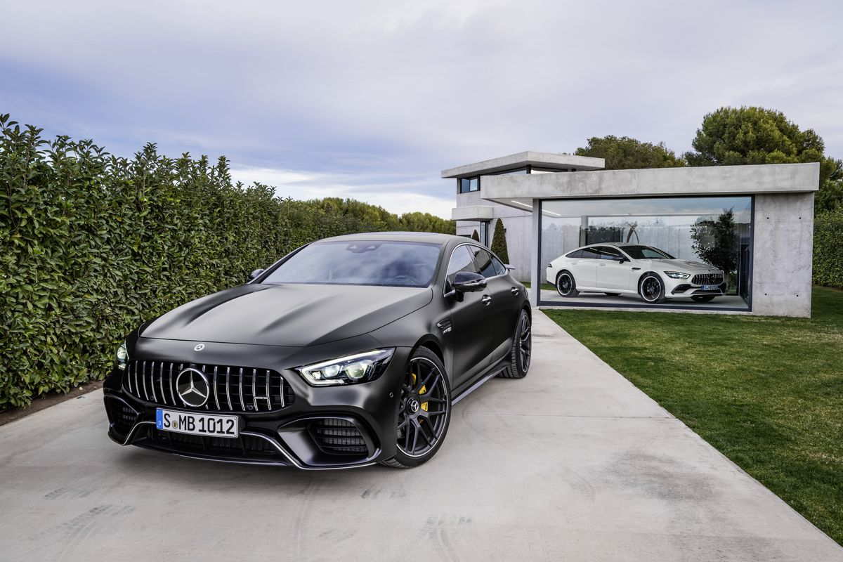 the mercedes amg gt 4 door is for the family that likes to drift