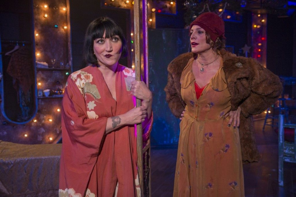 """Mierka Girten (Left) and Jennifer Engstrom star in Tennessee Williams' """"The Mutilated,"""" at A Red Orchid Theatre. (Photo: Michael Brosilow)"""
