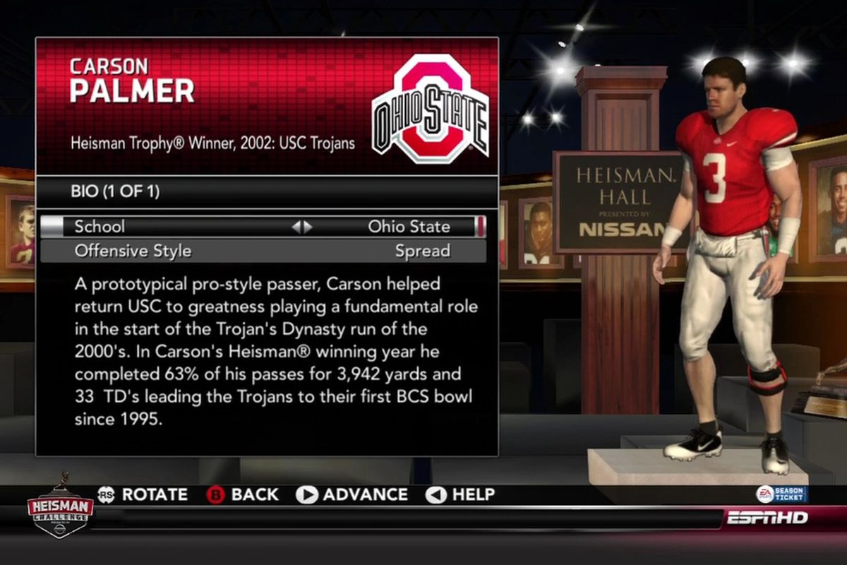 What if Carson Palmer had instead gone to Ohio State?