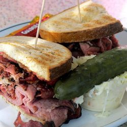 """Pastrami sandwich from Tik Tok Diner by <a href=""""http://www.flickr.com/photos/wwny/6248298387/in/pool-eater/"""">wEnDaLicious</a>."""