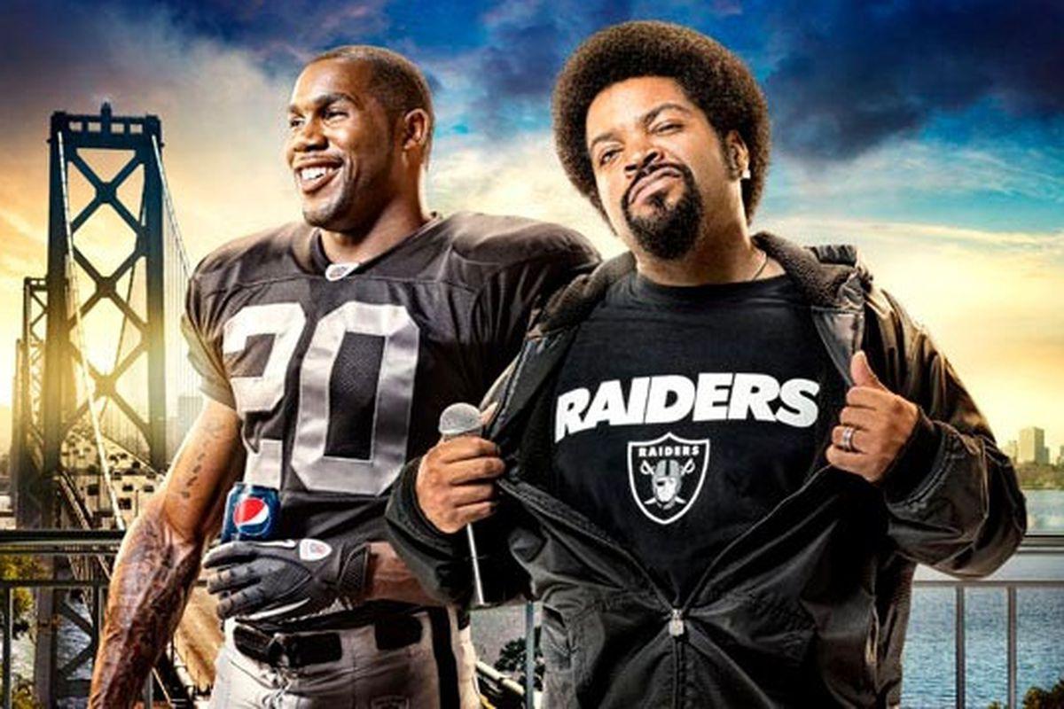 Ice Cube and Darren McFadden in Pepsi Raider Anthem logo (Photo by Pepsi)