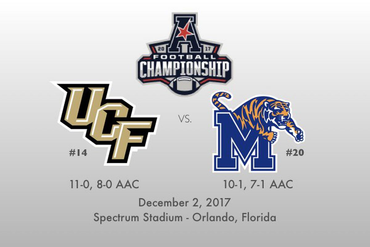 UCF faces Memphis for the 2017 AAC Championship.