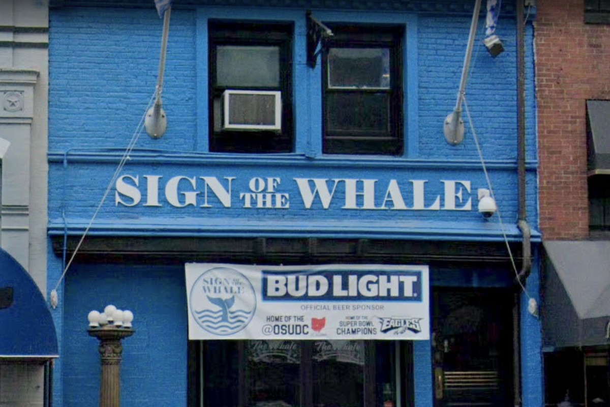 The facade at Sign of the Whale