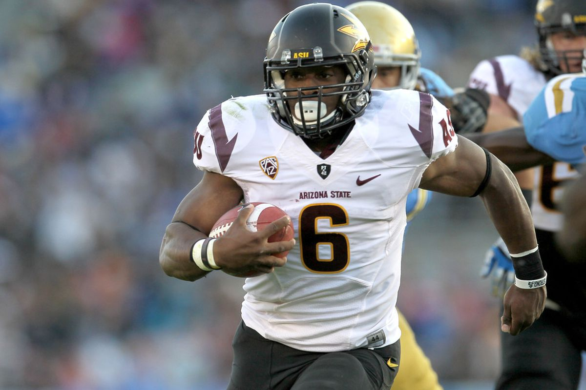 ASU running back Cameron Marshall returns for his senior year. (Photo by Stephen Dunn/Getty Images)