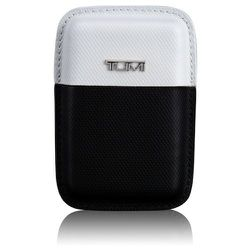 """<strong>TUMI</strong> Prism Structured Business Card Leather Case in Black/White, <a href=""""http://www.tumi.com/product/index.jsp?productId=20457916&prodFindSrc=search"""">$70</a>"""