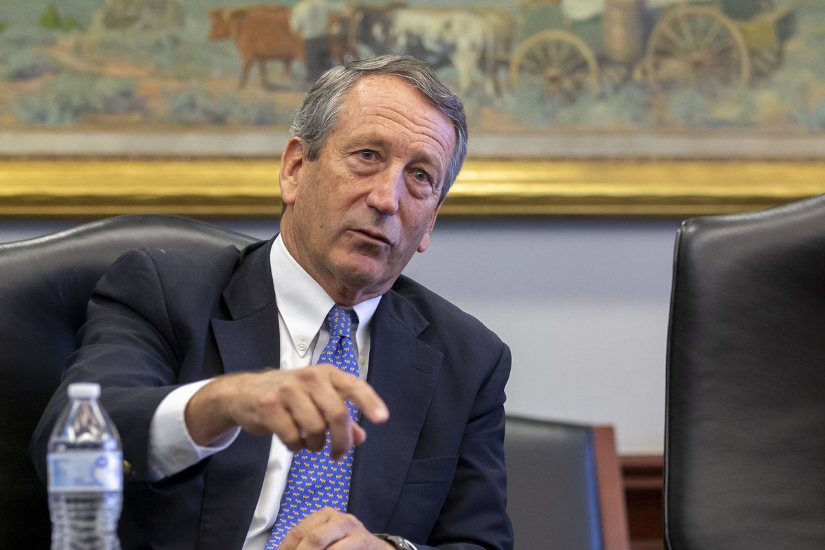 Presidential candidate Mark Sanford talks with the Deseret News and KSL editorial boards at the Triad Center in Salt Lake City on Monday, Oct. 21, 2019.