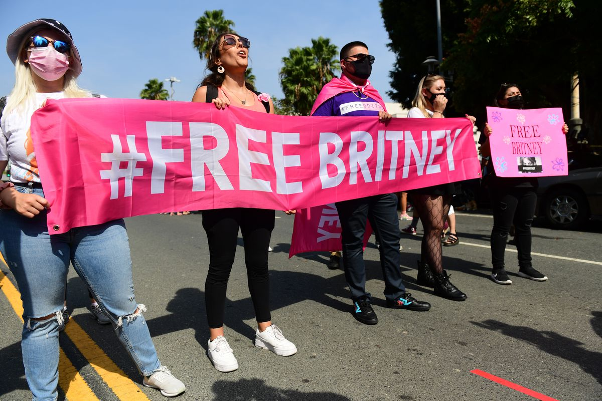 #FreeBritney Rally In Los Angeles
