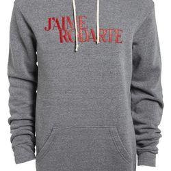 "Rodarte ""J'Aime Rodarte"" heathered hoodie, $180 at <a href=""http://shop.nordstrom.com/s/rodarte-jaime-rodarte-heathered-hoodie-nordstrom-exclusive/3578948?origin=category-personalizedsort&contextualcategoryid=0&fashionColor=&resultback=7428&cm_sp=person"
