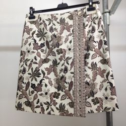 This skirt's color scheme and floral pattern can be worn in all seasons ($65).