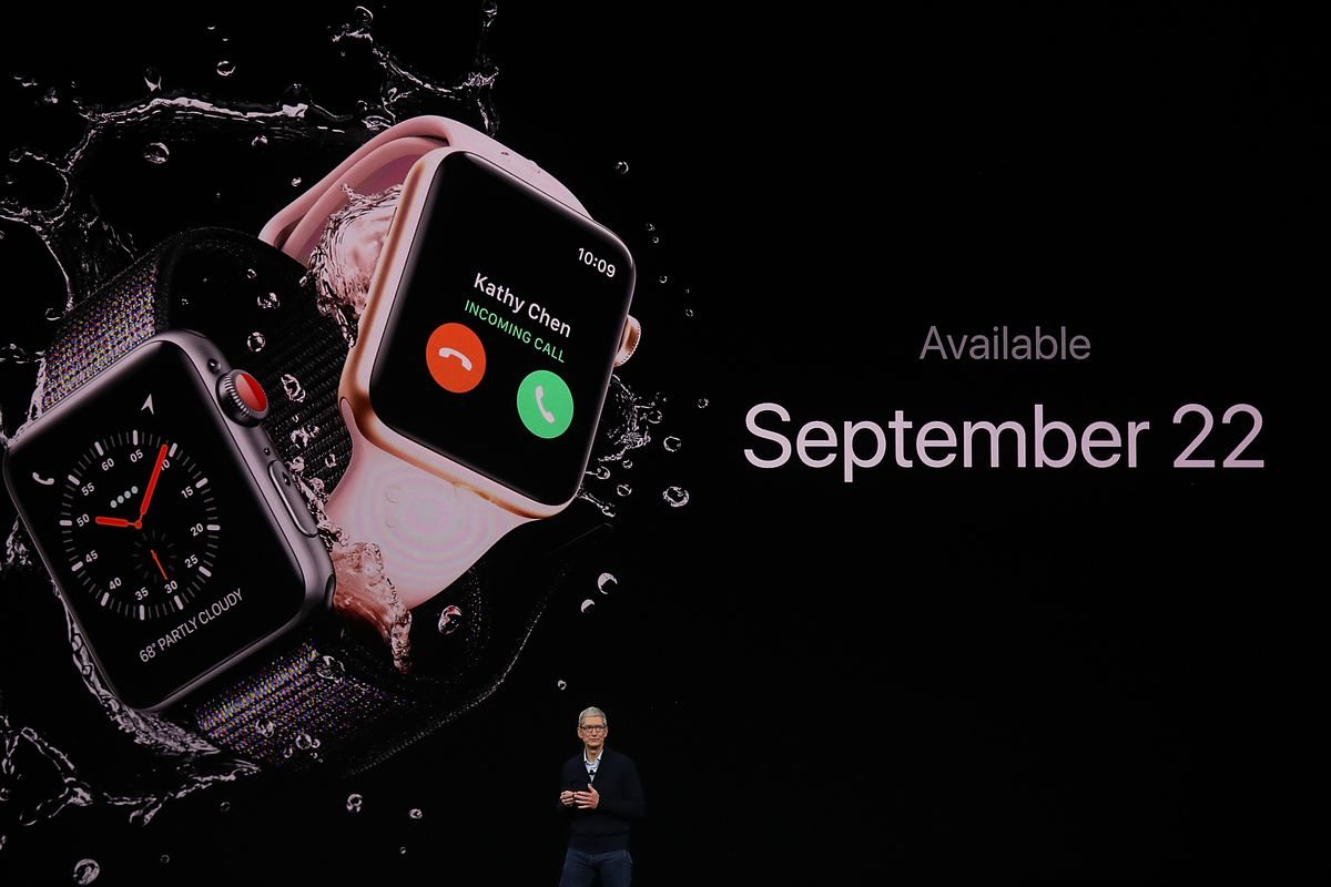 The new Apple Watch Series 3.
