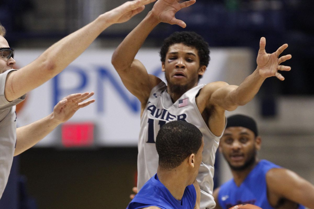 Xavier decided to try defense in the second half.
