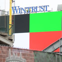 12:10 p.m. Video board being tested -