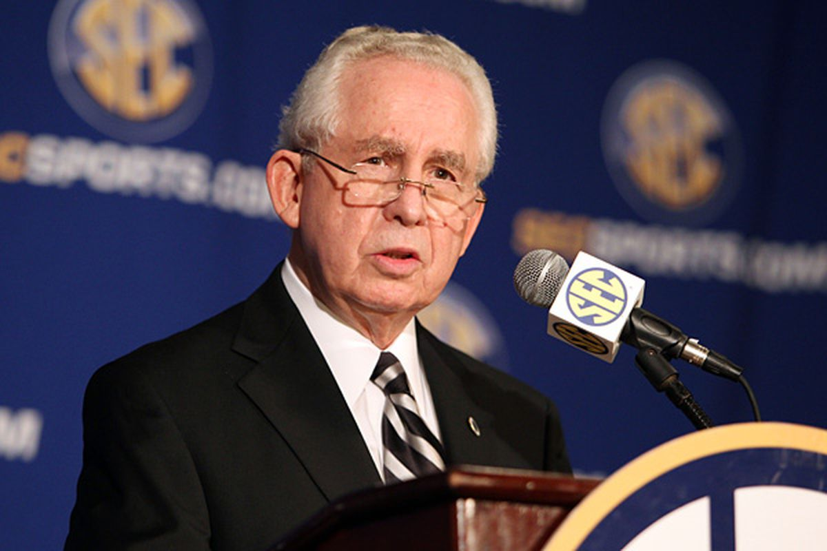 SEC Commissioner Mike Slive and Big 12 Commissioner Chuck Neinas released announcements today that their conference football champions will meet in a post season bowl game. (<em>photo, Butch Dill, AP</em>)