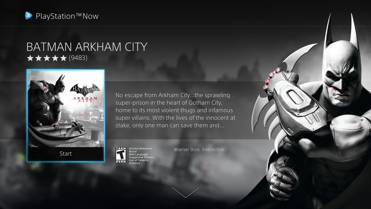 PS Now UI update