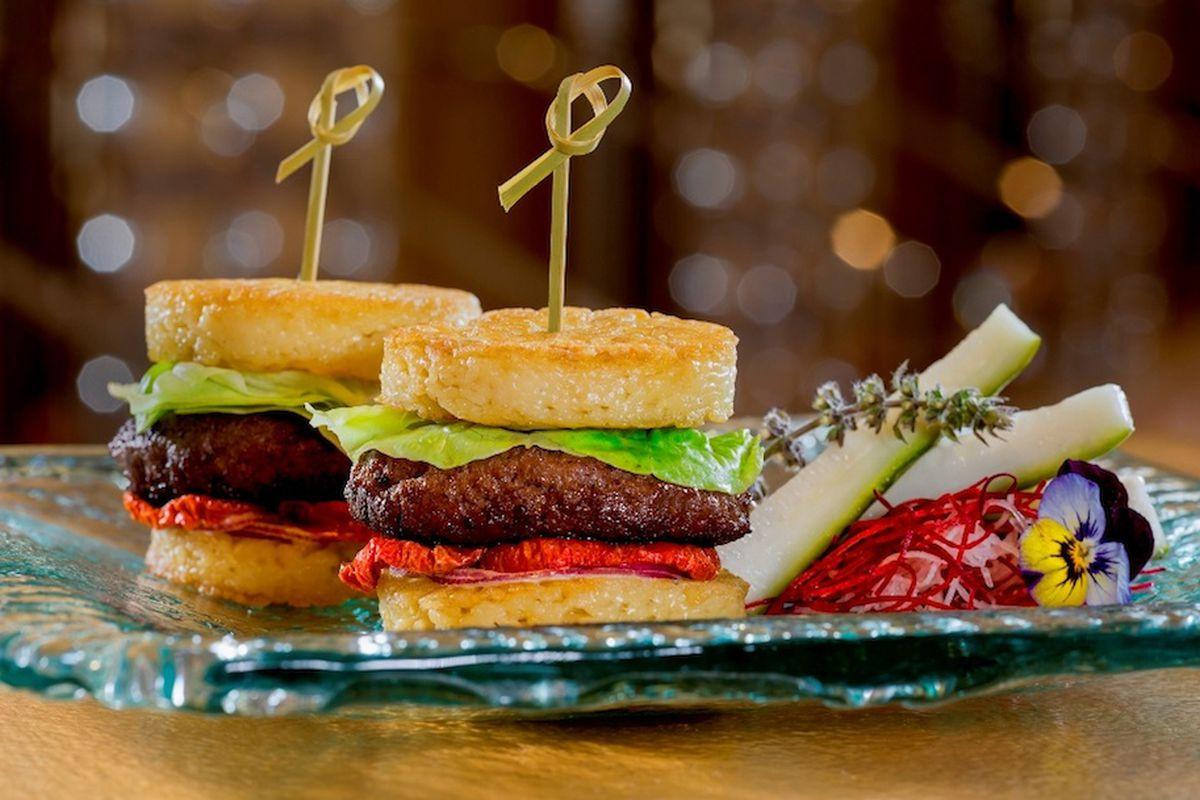 Andrea's Ramen Burger Sliders