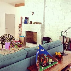 Maya and Dustin's adorable living room.
