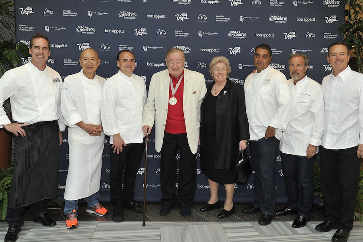 Shawn McClain, Masa Takayama, Jean-Georges Vongerichten, Sirio Maccioni, Michael Mina, Julian Serrano and Laurent Tourondel at the All-Star Feast