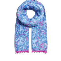 'My Fans' pom pom scarf, $20