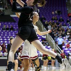Cedar defeats Pine View for the 4A girls championship title at the Dee Events Center in Ogden on Saturday, Feb. 29, 2020.