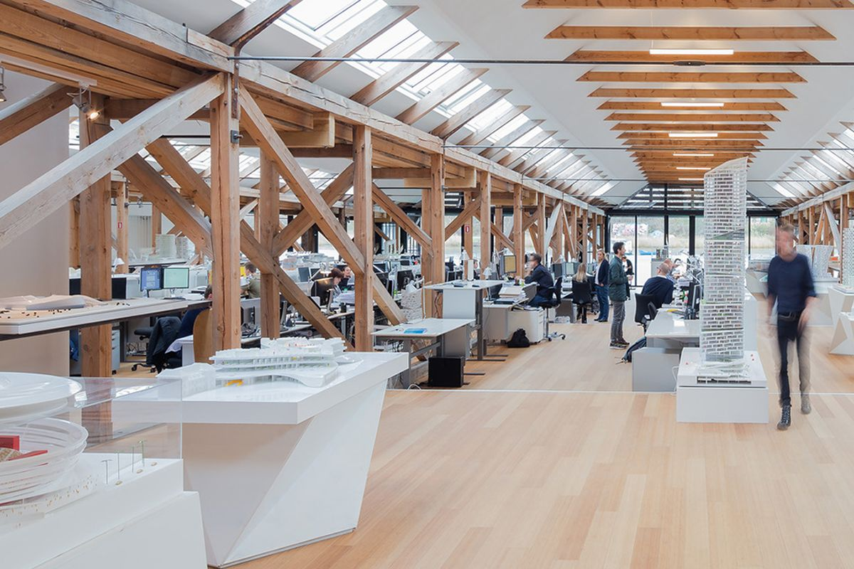 An inside look at the offices of zaha hadid renzo piano for Architecture office