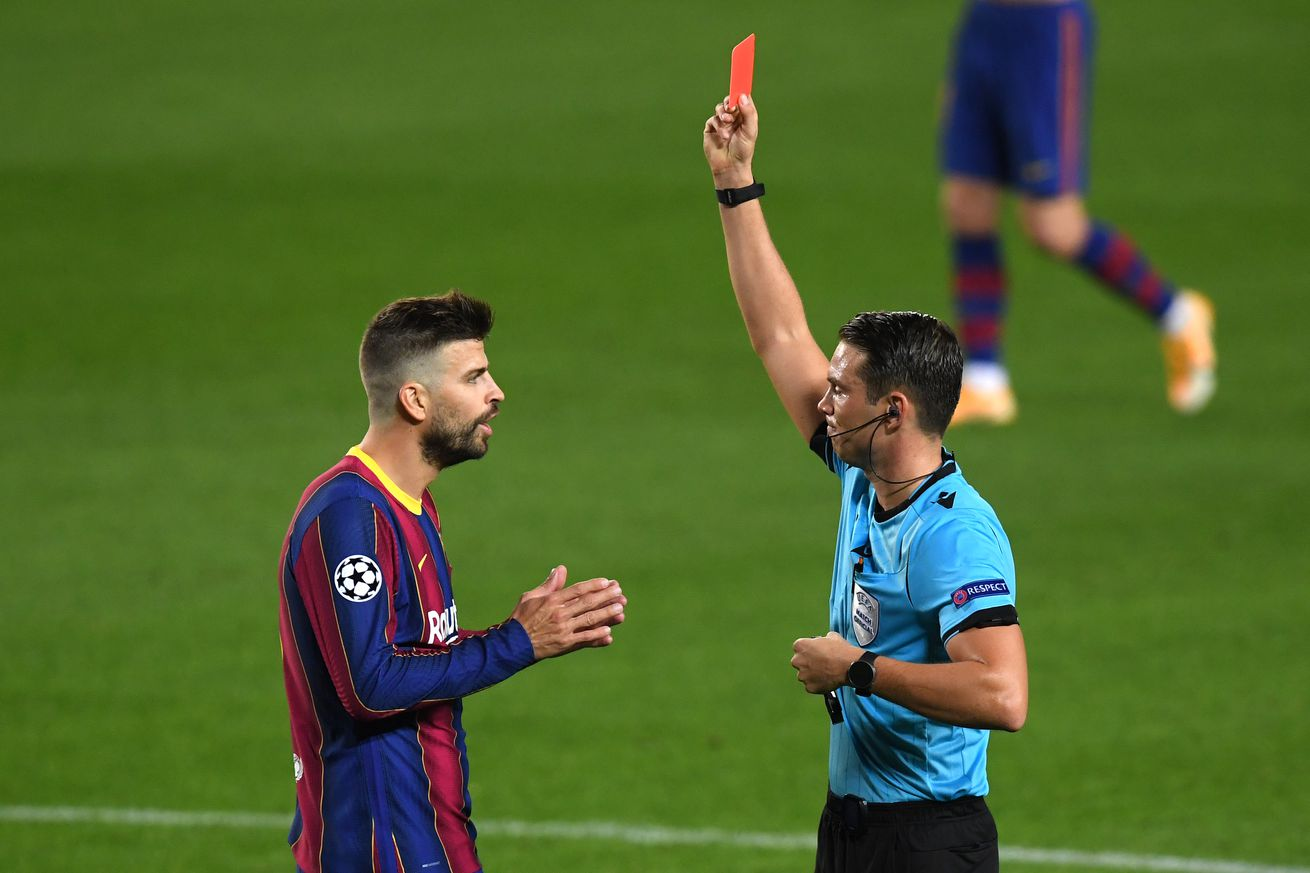 Pique banned for UCL clash with Juventus