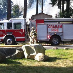 Graham Fire Department battles a fire after an explosion at Josh Powell's Washington state residence that killed Josh and his two sons.Graham Fire Department battles a fire after an explosion at Josh Powell's Washington state residence that killed Josh and his two sons, Sunday, Feb. 5, 2012.