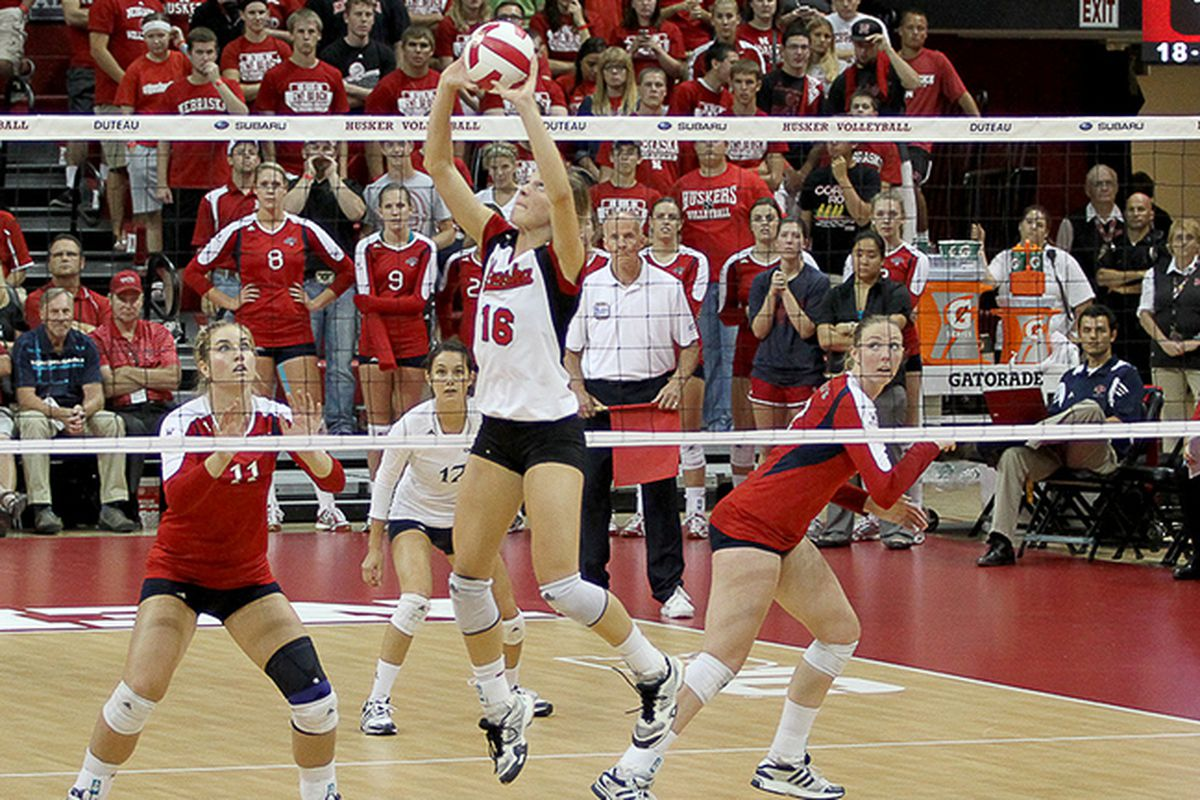 Gallery Photo: Huskers vs. St. Mary's Volleyball Gallery