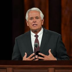 Elder William K. Jackson, General Authority Seventy, speaks during the Saturday afternoon session of the 190th Semiannual General Conference of The Church of Jesus Christ of Latter-day Saints on Oct. 3, 2020.