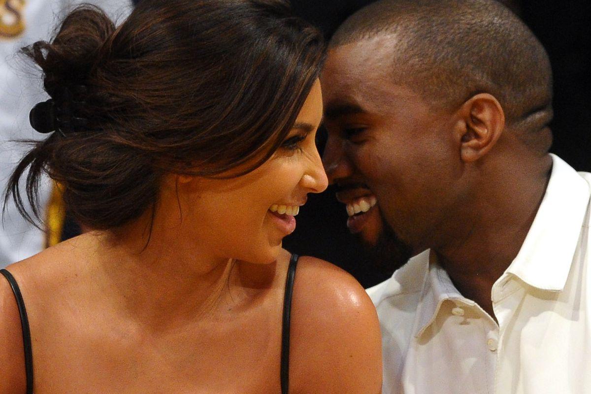 Kim Kardashian and Kanye West are lovebirds