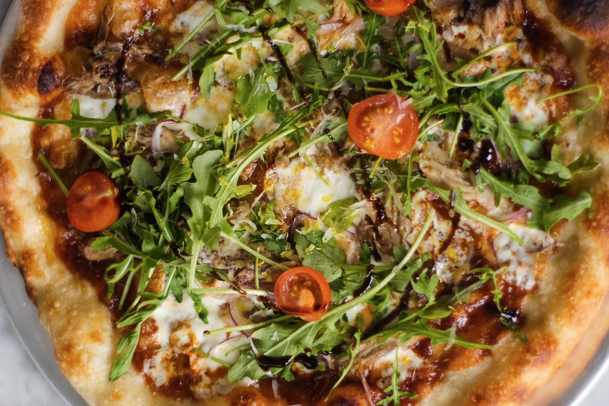 A pie from Connection Pizza + Bar
