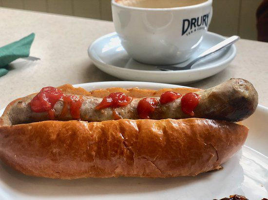 One of London's best hot dogs is at Heap's Cafe in Greenwich