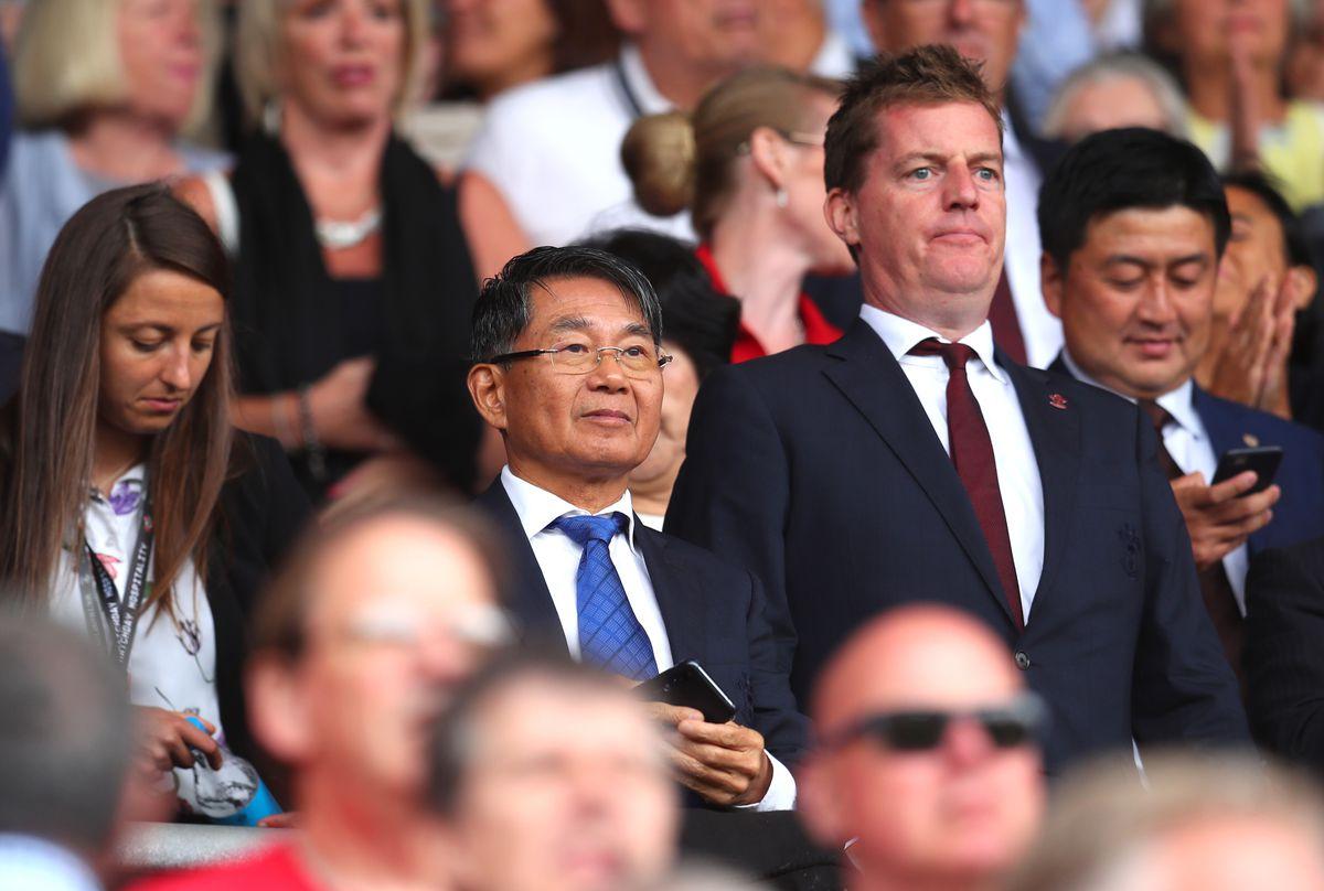 Southampton chairman Gao Jisheng alonside Martin Semmens