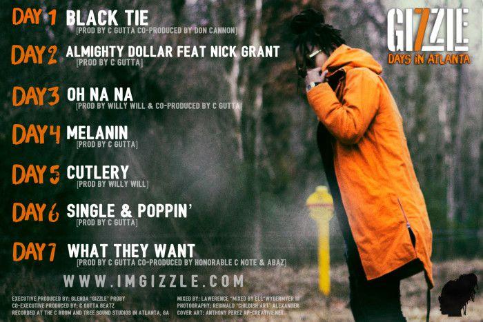Gizzle - 7 Days in Atlanta (Back Cover)