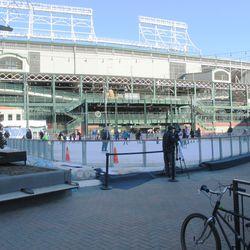 The rink, still busy
