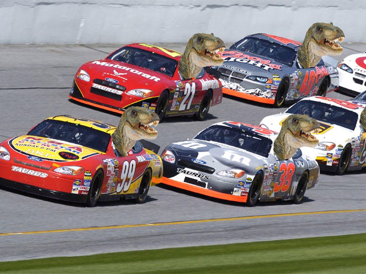 25 Dinosaur Car Track Toys For Kids 2 Big Loops Slot Race Sets