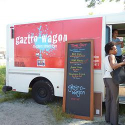 """The """"pop-up"""" Gaztro-Wagon food truck and schedule. Matt Maroni sold out quick."""