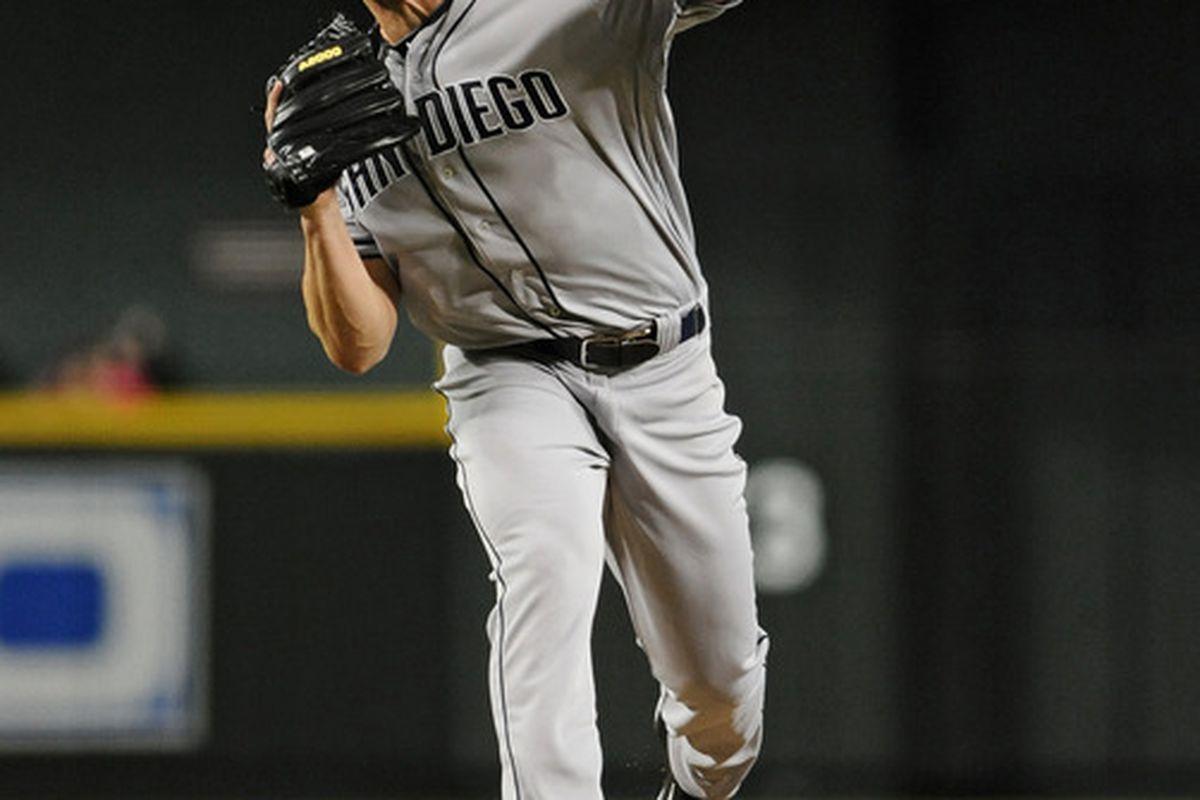 Jul. 2, 2012; Phoenix, AZ, USA; San Diego Padres pitcher Clayton Richard (33) pitches against the Arizona Diamondbacks at Chase Field. Mandatory Credit: Jennifer Stewart-US PRESSWIRE