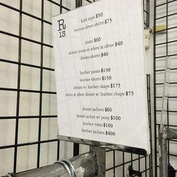 R13 price list