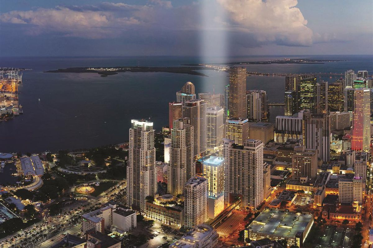 A rendering of Yotel, a condo apartment, in downtown Miami