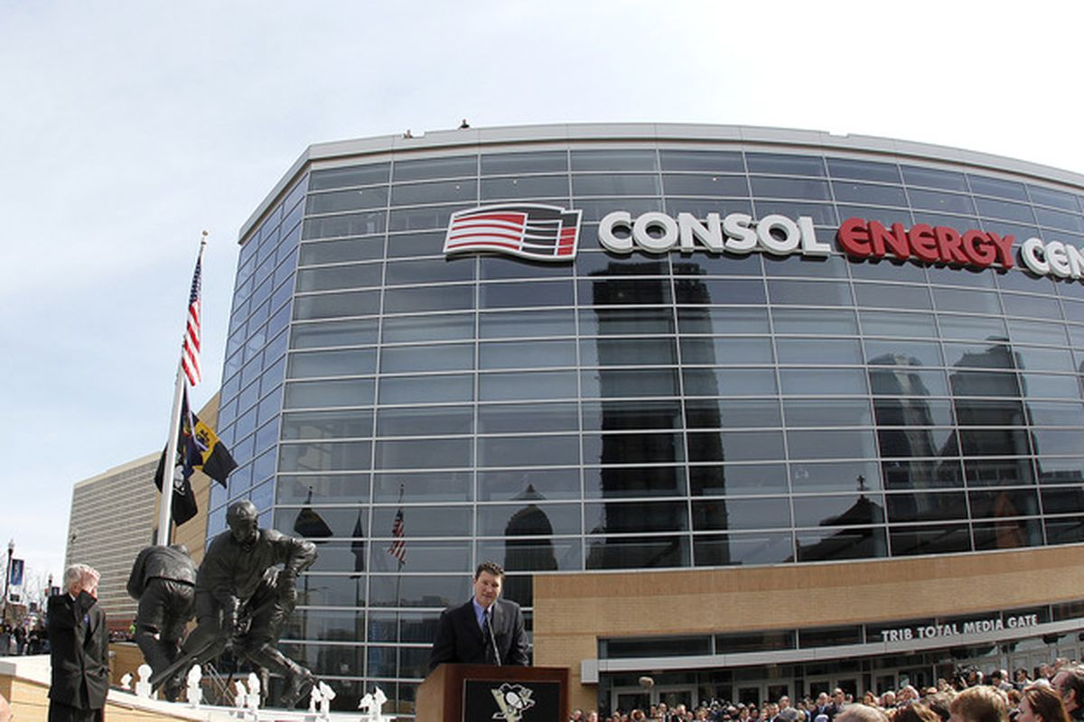 CONSOL energy Center: Home of the Mario Lemieux And Two Butts Statue