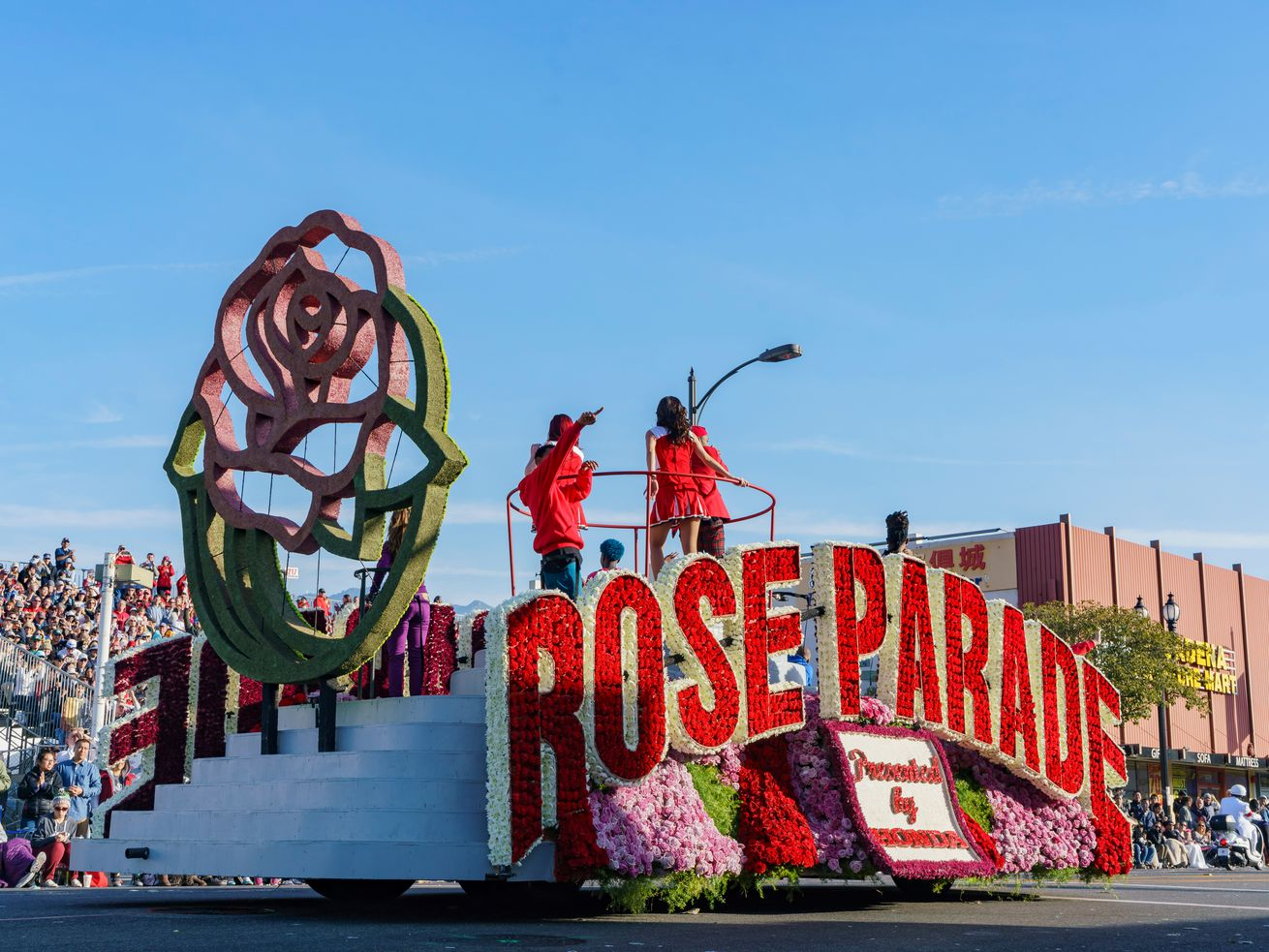 The Rose Parade starts at 8 a.m. on New Year's Day.