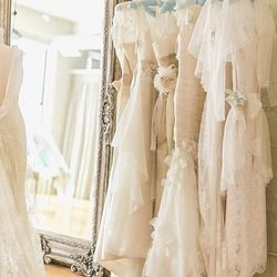 """A bridal salon in the West Loop, <a href=""""http://www.alicepadrul.com/chicago-wedding-dresses/#1"""">Alice Padrul</a> [1360 West Randolph Street] offers custom dresses and a bridal line crafted on site by the local designer. Dresses have a sophisticated loo"""