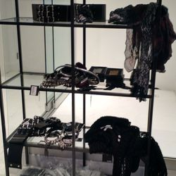 The accessories shelf