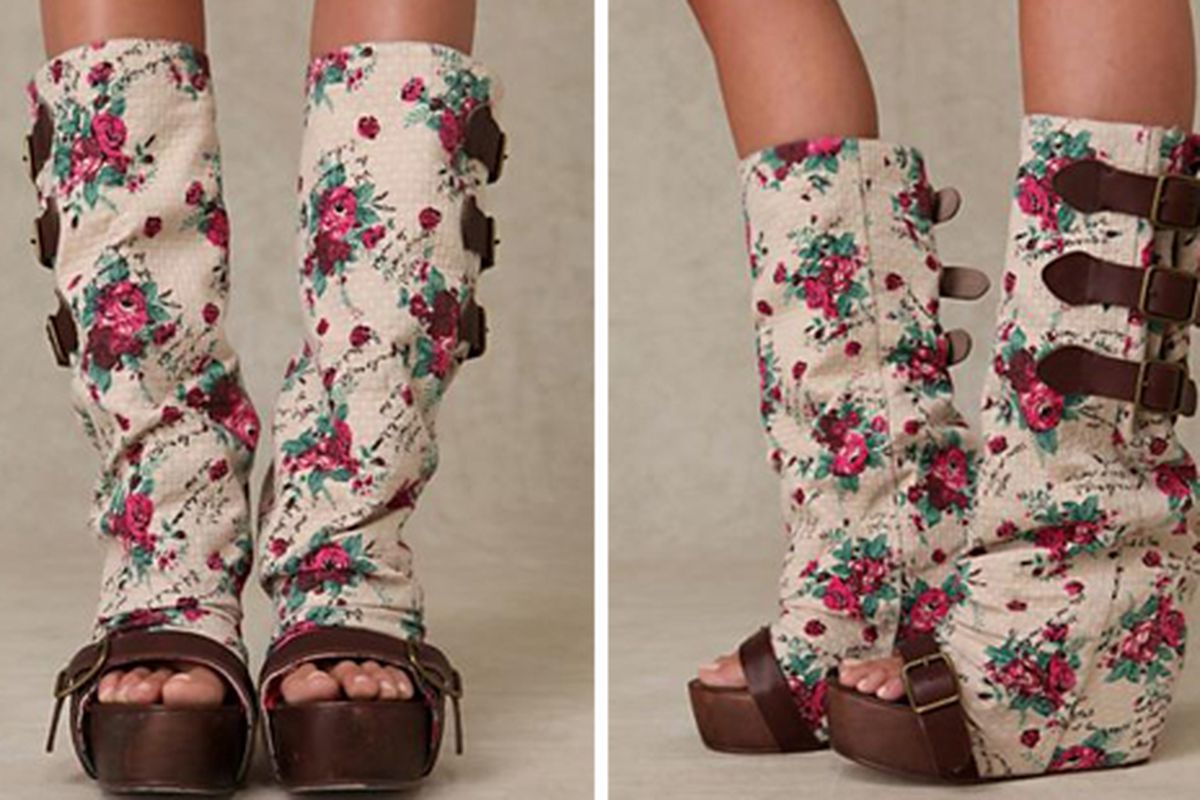"""Images via <a href=""""http://www.freepeople.com/shoes-wedges-and-heels/floral-slouch-clog/"""">Free People</a>"""