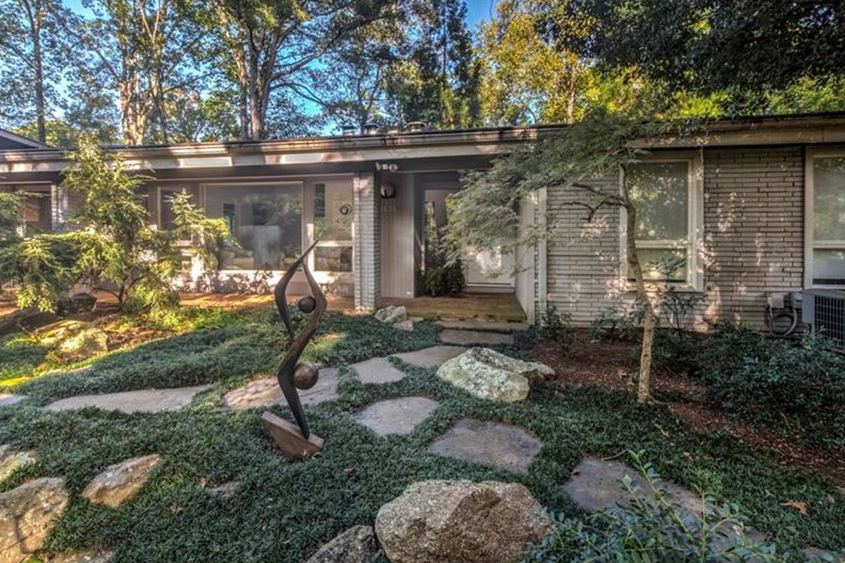 A midcentury modern home in Buckhead Atlanta for sale now.