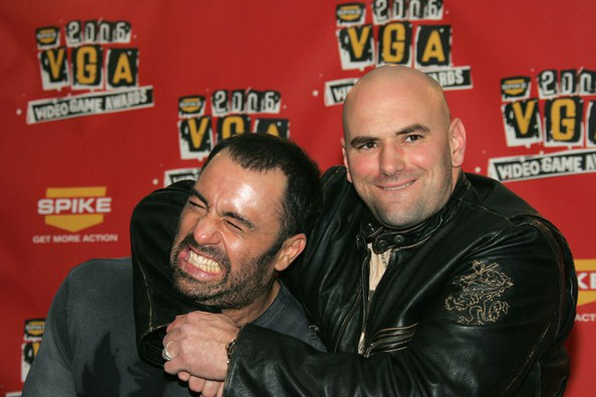 Dana White and Joe Rogan fooling around at the Spike TV Video Games Awards. (Photo by Frazer Harrison/ via Getty Images)