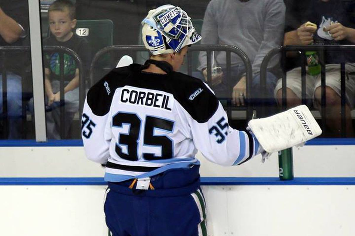Mathieu Corbeil earned first start honors with his performance in last night's 3-2 shootout loss to the Mavericks.